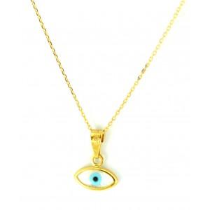 Χρυσό κολιέ 9 καρατίων μάτι...