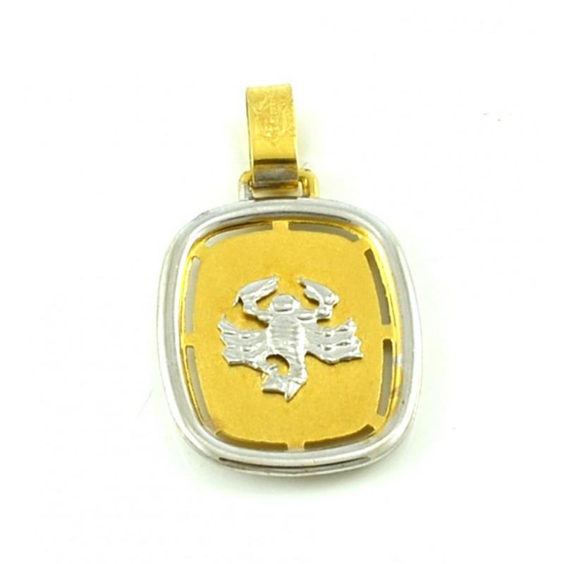 Χρυσό ζώδιο 'σκορπιός' διπλής όψης 14καρατίων ZF138AT6