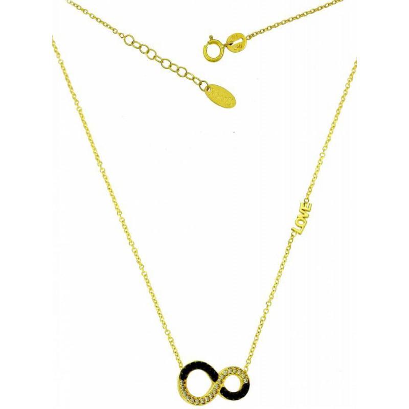 Γυναικείο χρυσό κολιέ 'απειρο' NLT11165