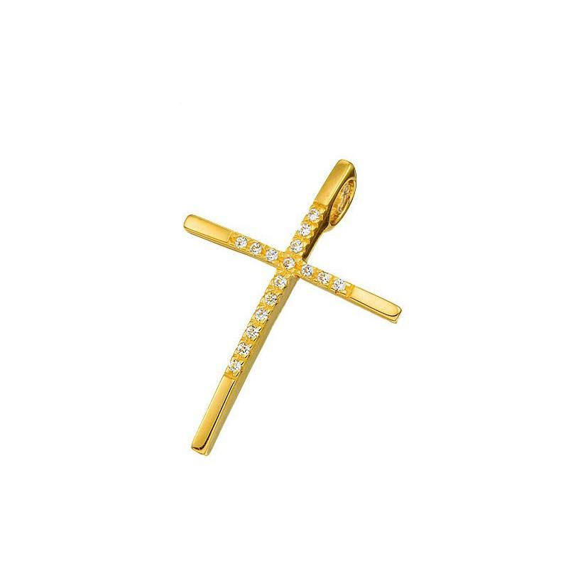 Χρυσός Σταυρός Κ14 ST73BAR9