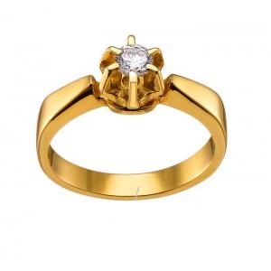 Μονόπετρο χρυσό δαχτυλίδι...