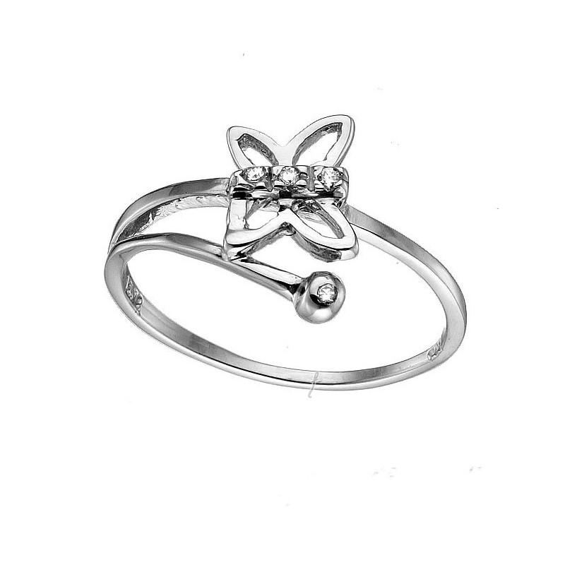 Λευκόχρυσο δαχτυλίδι 14καρατίων DX142BAR8