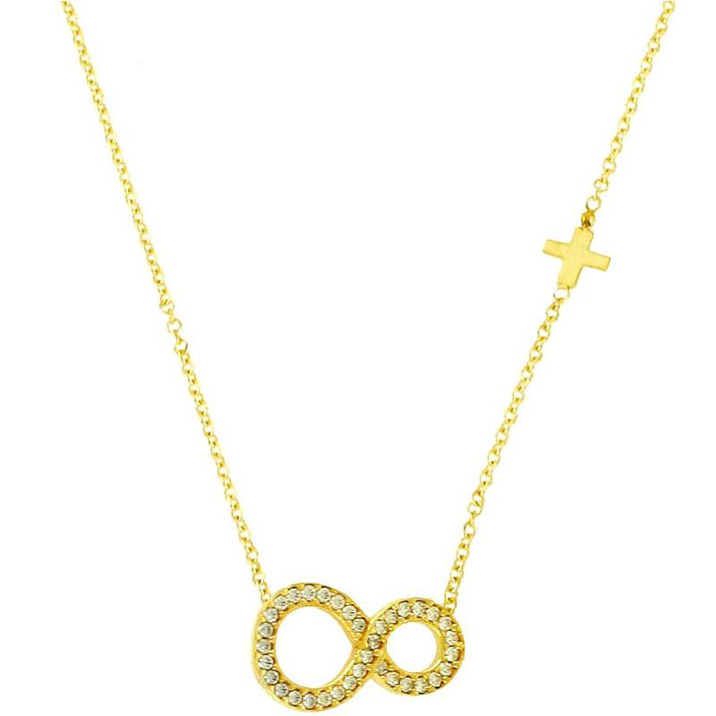 Χρυσό γυναικείο κολίε απειρο NLT11166K