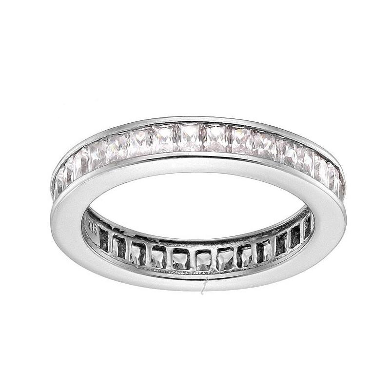 Λευκόχρυσο γυναικείο δαχτυλίδι 14 καρατίων D146SOC50