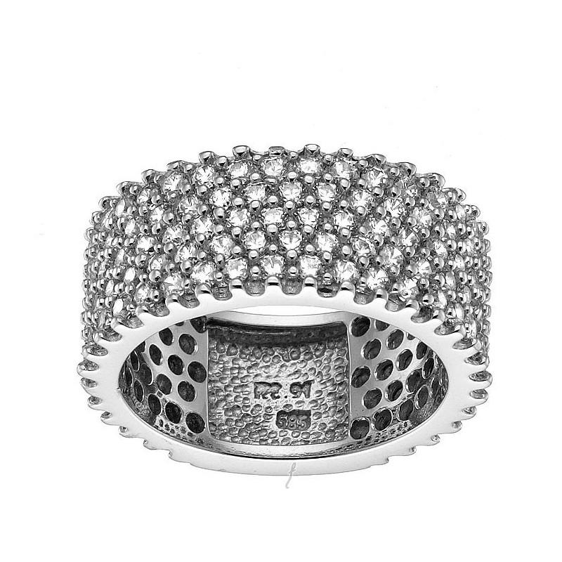 Λευκόχρυσο γυναικείο δαχτυλίδι 14 καρατίων DX140