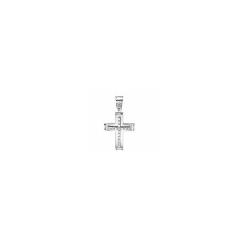 Λευκόχρυσος  σταυρός  14 καρατίων ST115BAR9