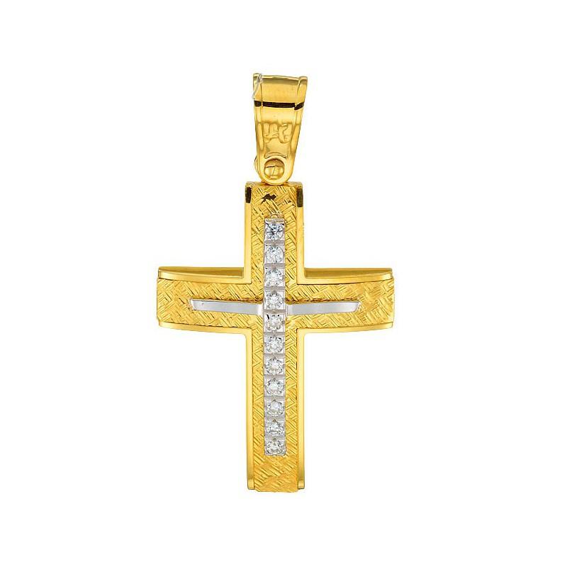 Χρυσός σταυρός 14καράτια ST200BAR