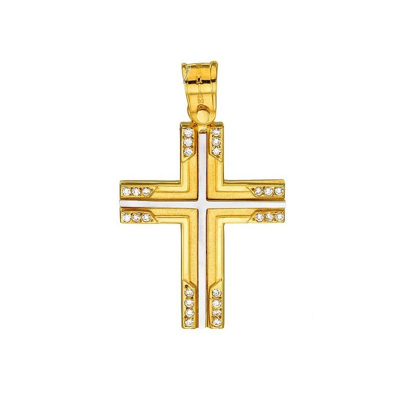 Χρυσός  σταύρος 14 καρατίων ST278BAR