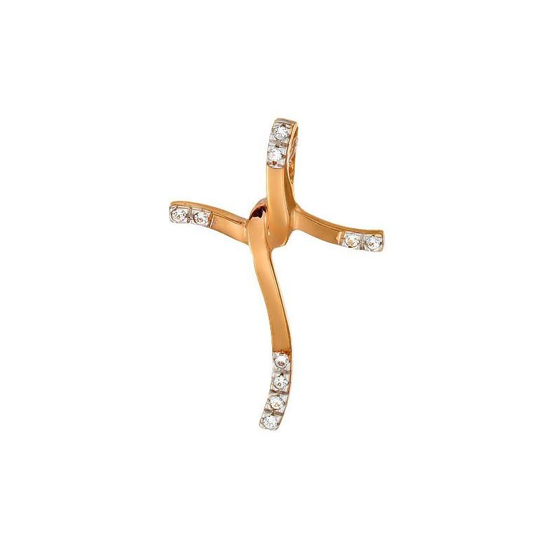 Ροζ  χρυσός σταυρός 14 καρατίων ST122BAR