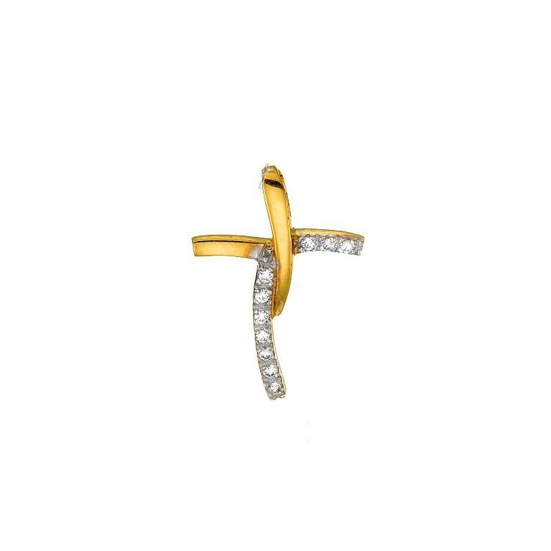 Χρυσός σταυρός 14 καρατίων ST113BAR9