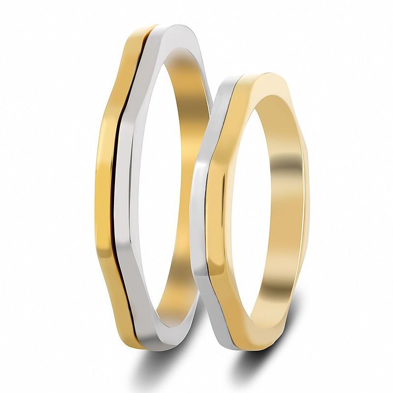Λευκόχρυση Χρυσή βέρα SX605 Ανδρική/ Γυναικεία για Γάμο/ Αρραβώνα 9 καρατίων
