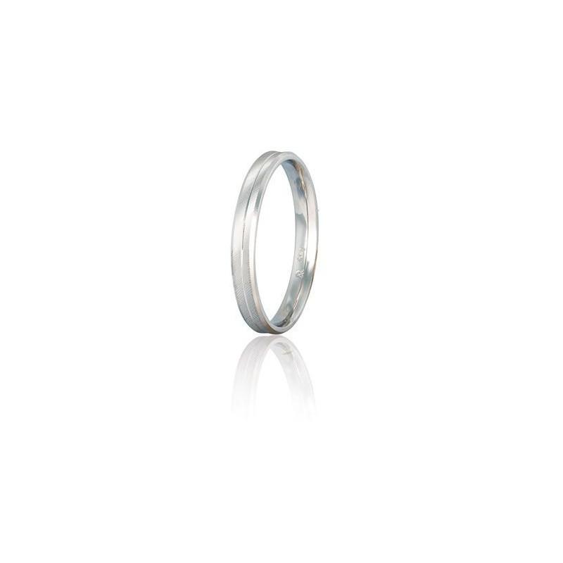 Λευκόχρυση βέρα S1GCL Γυναικεία/Ανδρική Βέρα για Γάμο/Αρραβώνα 9 καρατίων