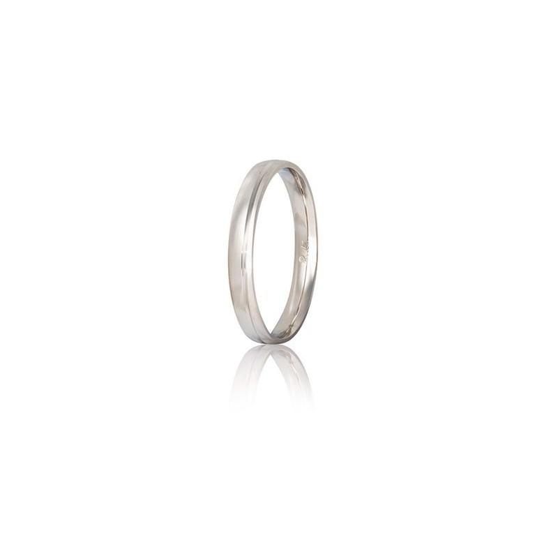 Λευκόχρυση βέρα S41GD-white Ανδρική/Γυναικεία Βέρα για Γάμο/Αρραβώνα 9 καρατίων