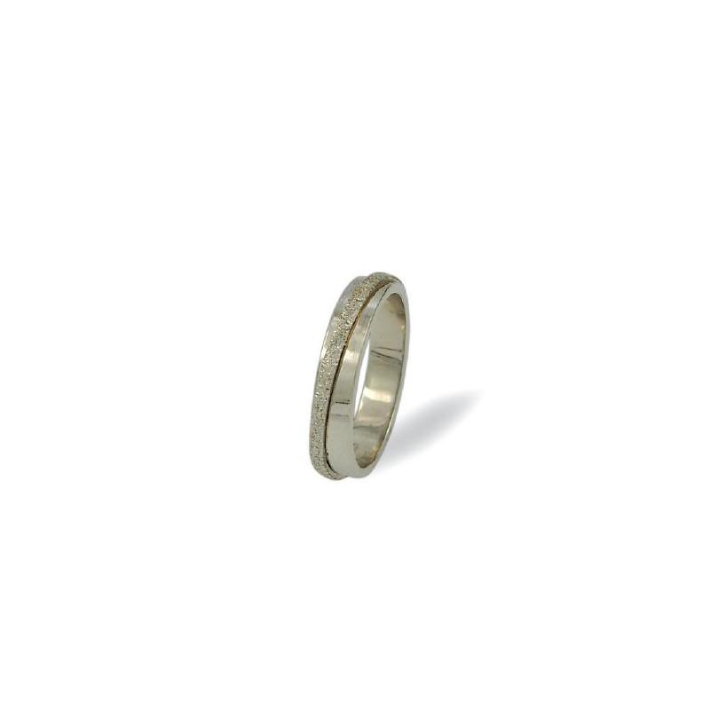 Λευκόχρυση βέρα S550 Ανδρική/ Γυναικεία για Γάμο/ Αρραβώνα 9 καρατίων