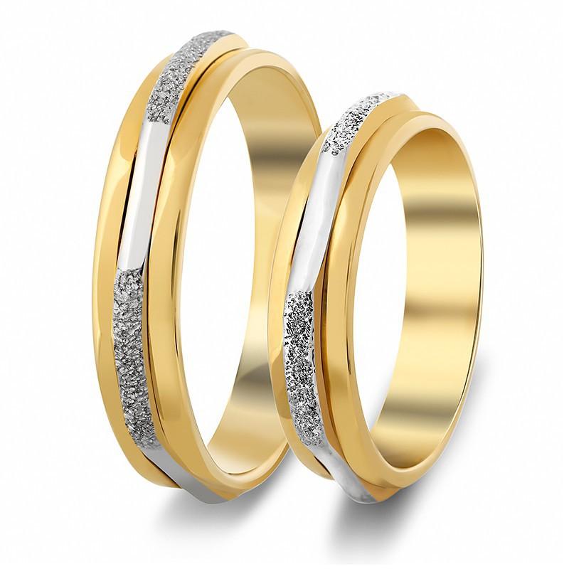 Χρυσή Λευκόχρυση βέρα S631 Αντρική/Γυναικεία για Γάμο/Αρραβώνα 9 καρατίων