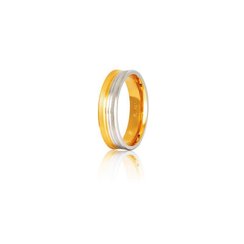 Δίχρωμη βέρα S4GC  S12GC Aντρική/Γυναικεία για Γάμο/Αρραβώνα