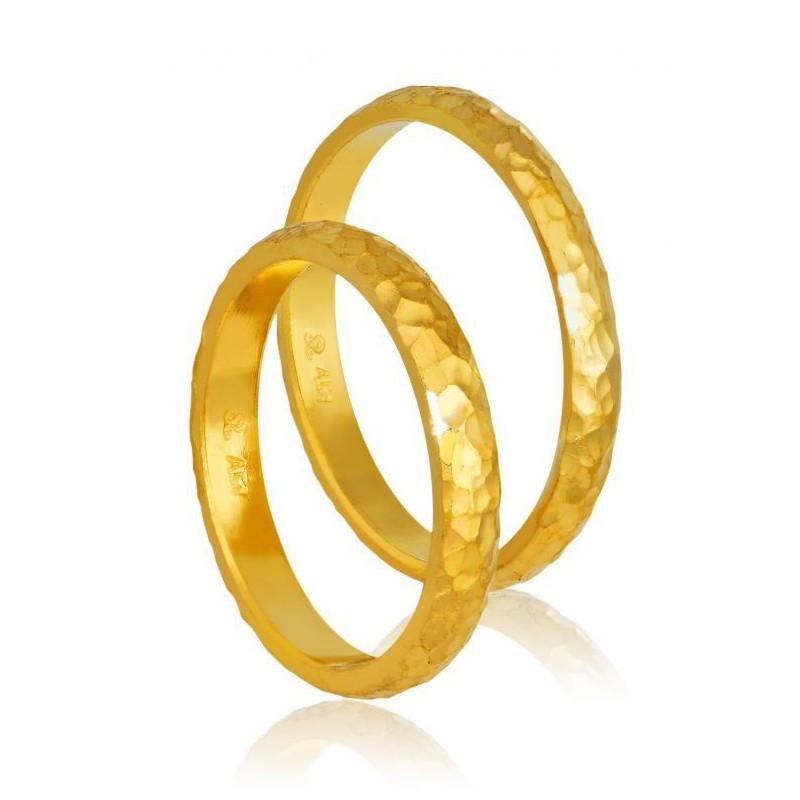 Χρυσή βέρα 410 Γυναικεία/Ανδρική για Γάμο/Αρραβώνα 9 καρατίων.