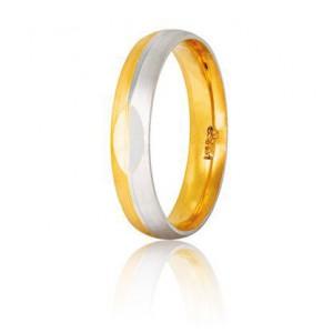 Χρυσή Λευκόχρυση βέρα S10GD...