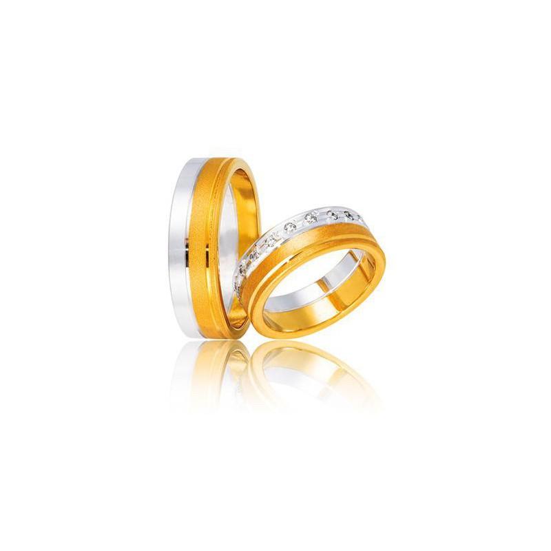 Χρυσή Λευκόχρυση βέρα DR8 Αντρική/Γυναικεία για Γάμο/Αρραβώνα 9 καρατίων