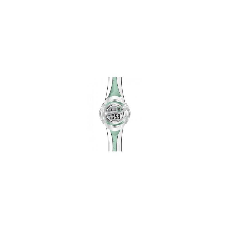 Jaga M628A Green White Rubber Strap Unisex ρολόι