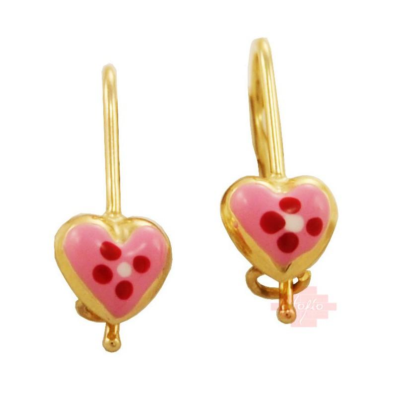 Χρυσά παιδικά σκουλαρίκια  SK100