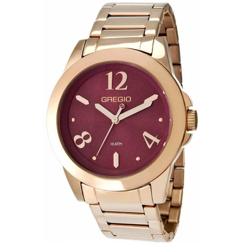 Ρολόι GREGIO GR100031 Essential με Ροζ Χρυσό Ατσάλινο Μπρασελέ