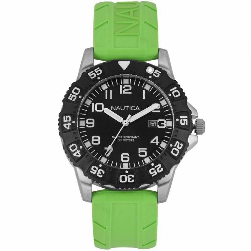 NAUTICA NSR 103 Green Rubber Strap A12639G