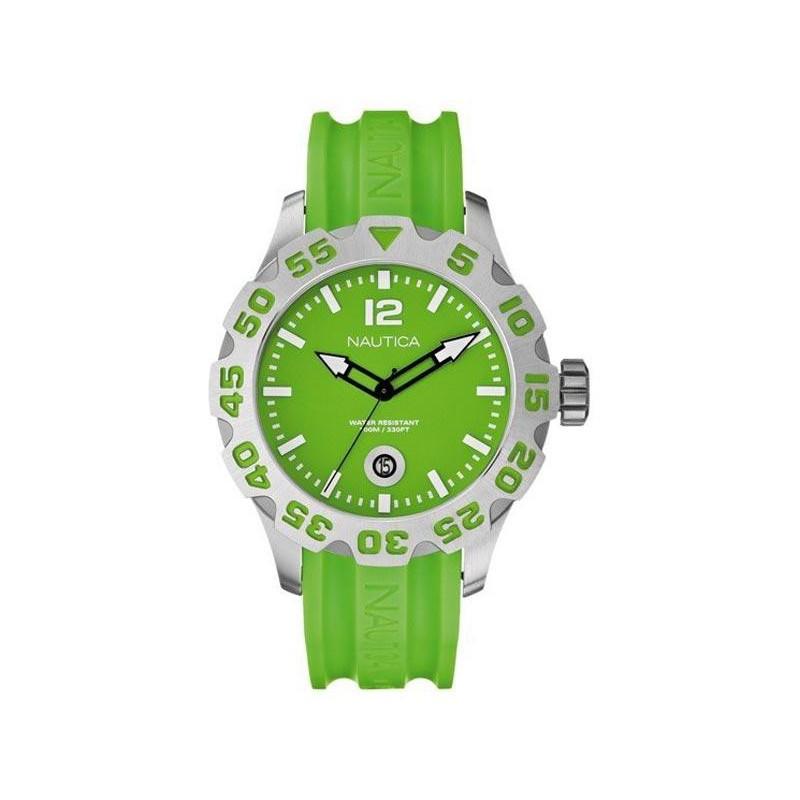 NAUTICA BFD101 Light Green Rubber Strap