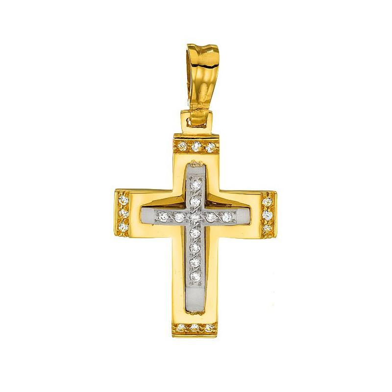 Χρυσός σταύρος 14 καρατίων ST138BAR9