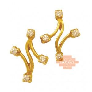 Χρυσά γυναικεία σκουλαρίκια...