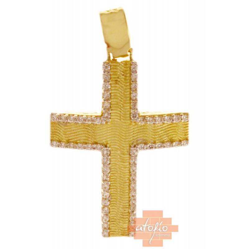 Χρυσός σταυρός  14 καρατίων ST246SK8