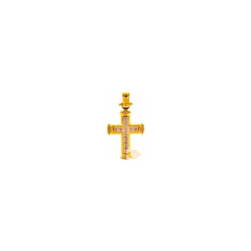 Χρυσός σταυρός 14 καρατίων ST261