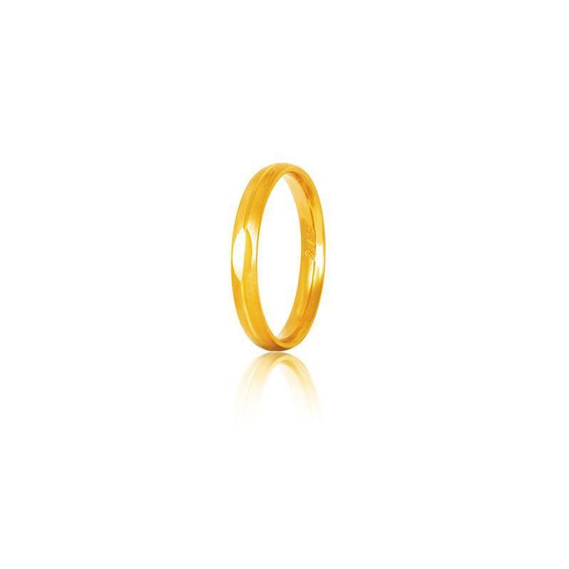 Χρυσή βέρα S9GC Ανδρική/Γυναικεία Βέρα για Γάμο και Αρραβώνα 9 καρατίων