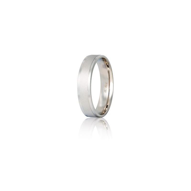 Λευκόχρυση βέρα S28GC Aντρική/Γυναικεία για Γάμο/Αρραβώνα 9 καρατίων
