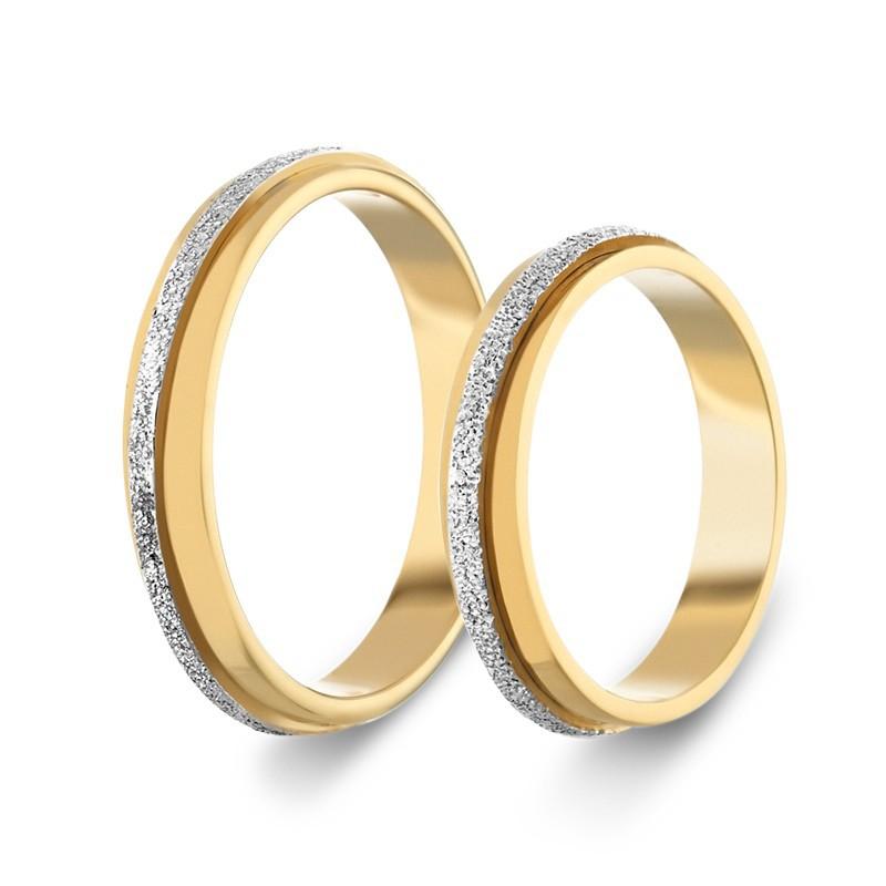 Χρυσή Λευκόχρυση βέρα SX550P Aντρική/Γυναικεία για Γάμο/Αρραβώνα 9 καρατίων