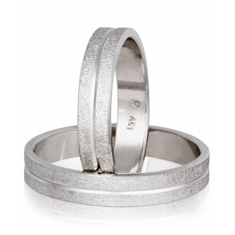 Λευκόχρυση βέρα S70GCDX Ανδρική/ Γυναικεία για Γάμο/ Αρραβώνα 9 καρατίων