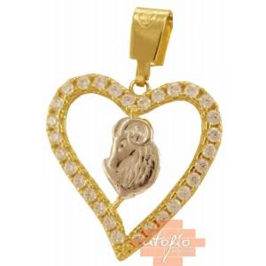 Χρυσό ζώδιο κριός καρδιά...