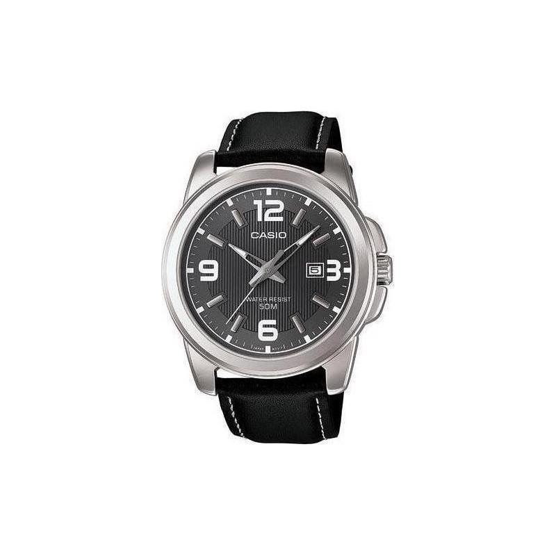 Ρολόι CASIO MTP-1314PL-8AVEF Collection με Μαύρο Δερμάτινο Λουράκι
