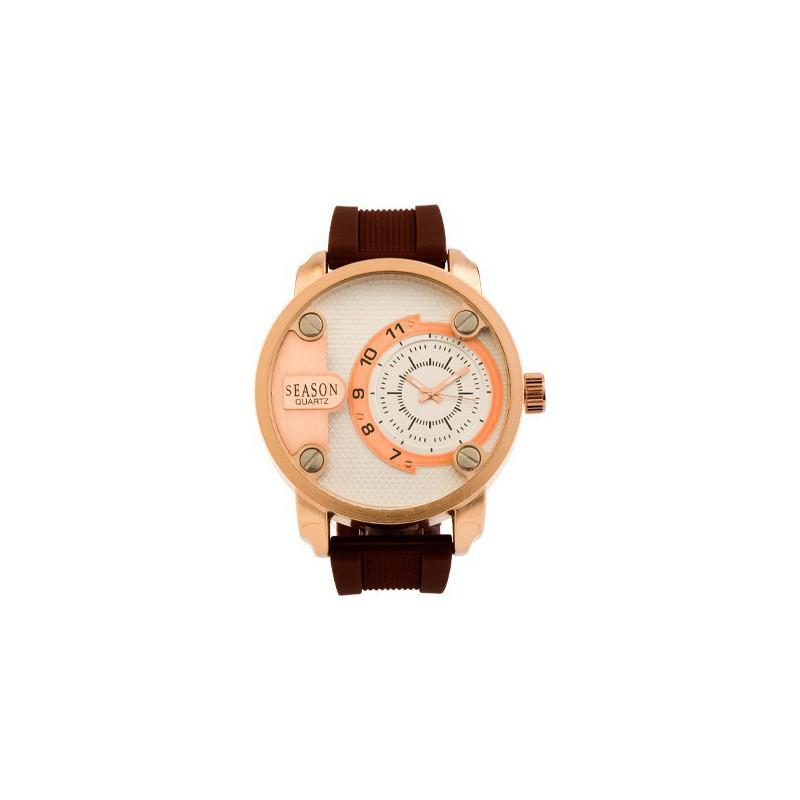 Ρολόι SEASON TIME 9-1-30-2 Leon Series Καφέ