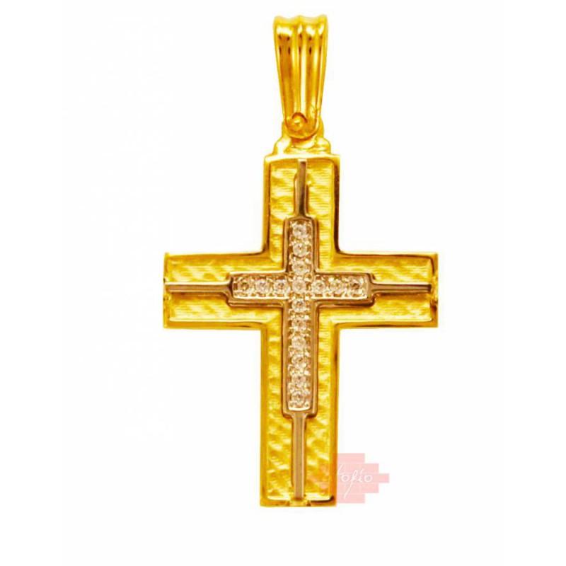 Xρυσός  σταυρός 14 καρατίων GD78SAN7