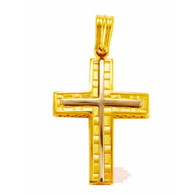 Xρυσός  σταυρός 14 καρατίων ADP174SAN7