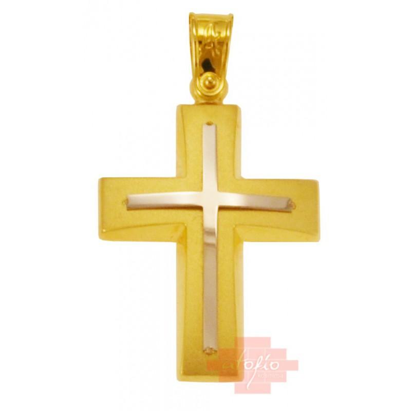 Χρύσος σταυρός 14καρατίων ST432HL80