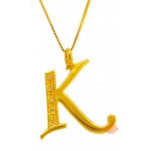 Χρυσό μονόγραμμα ''Κ''...