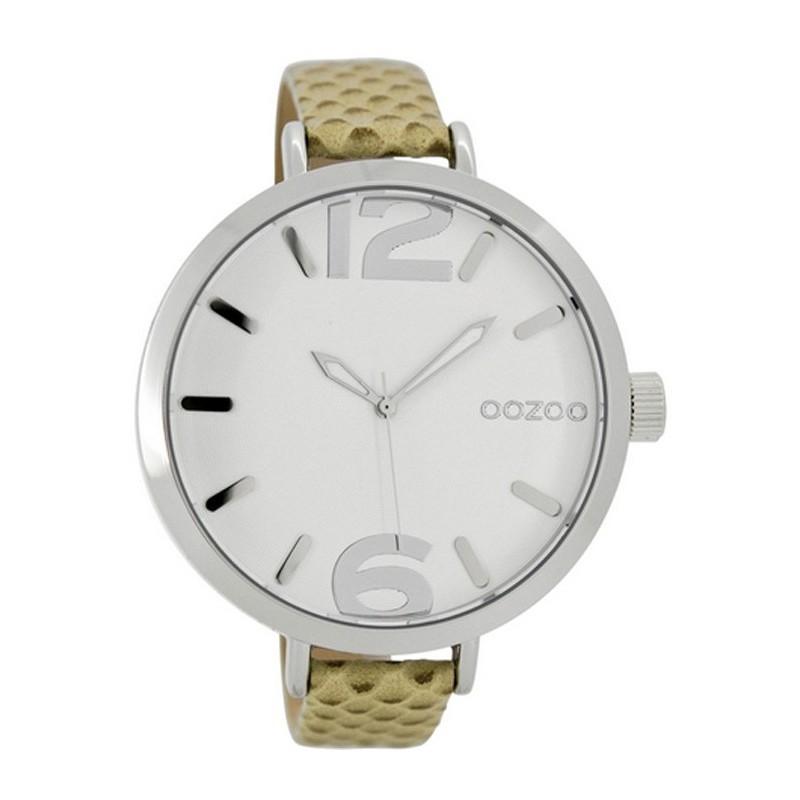 Ρολόι OOZOO C7146 Timepieces Xxl με Καφέ Δερμάτινο Λουράκι