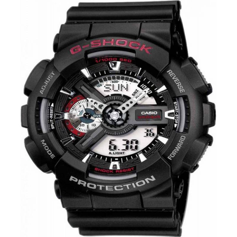 Ρολόι CASIO GA-110-1AER G-Shock με Μαύρο Καουτσούκ Λουράκι