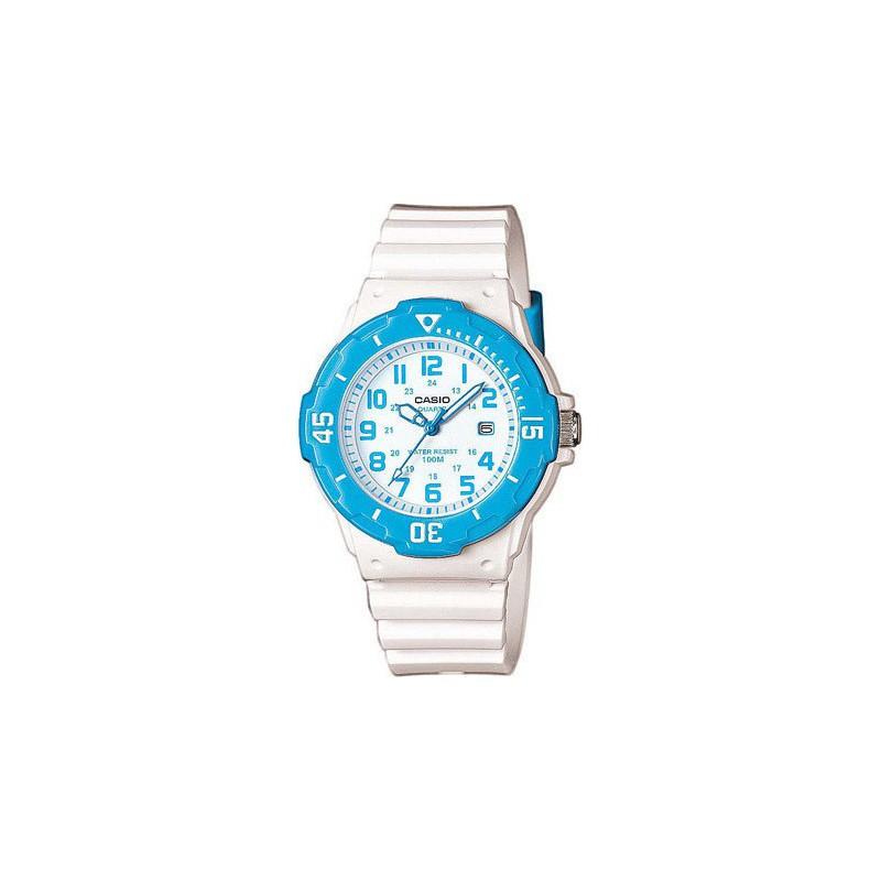 Ρολόι CASIO LRW-200H-2BVEF Collection με Λευκό Καουτσούκ Λουράκι