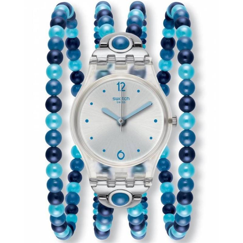 Ρολόι SWATCH LK353 Blues Prohibition με Μπλέ Μπρασελέ από Πέρλες