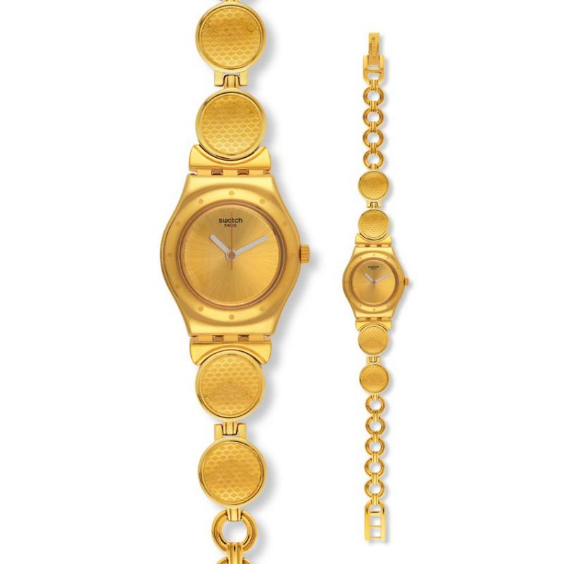 Ρολόι SWATCH YSG141G Givre με Χρυσό Ατσάλινο Μπρασελέ