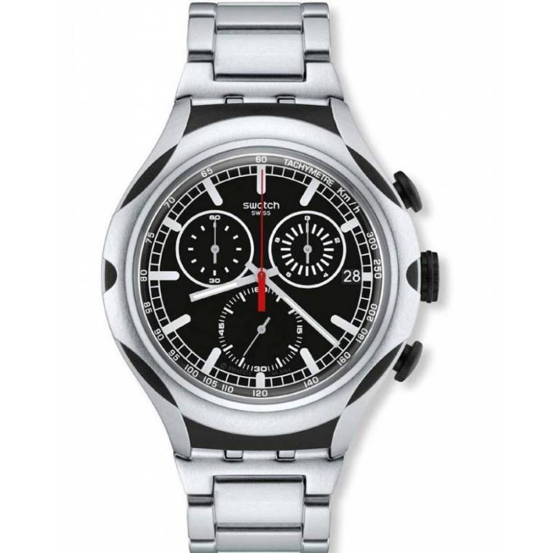 Ρολόι SWATCH YYS4000AG Black Energy με Μπρασελέ από Αλουμίνιο και με Χρονογράφο