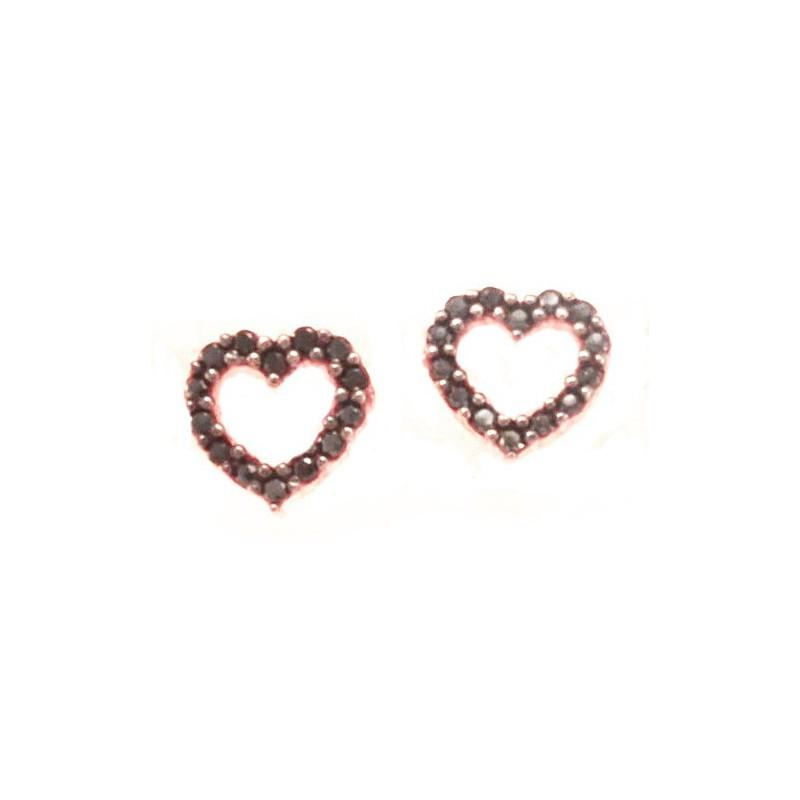 Γυναικεία Ροζ χρυσά σκουλαρίκια SK067